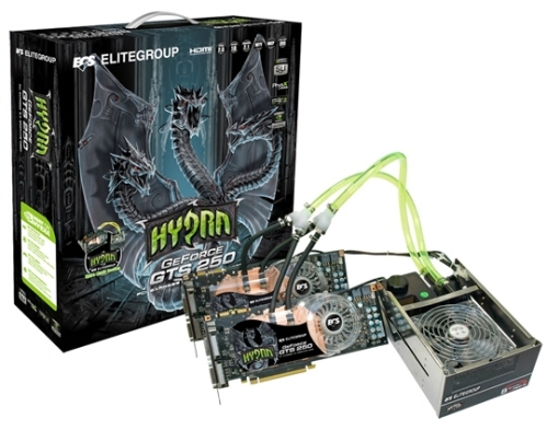 ECS Hydra with GTS 250  geforce 250gts geforce 200