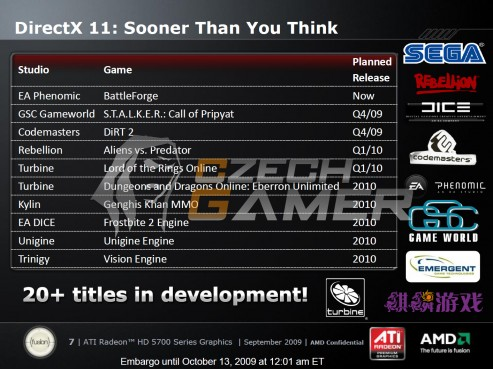 AMD?s DirectX 11 game roadmap surfaces