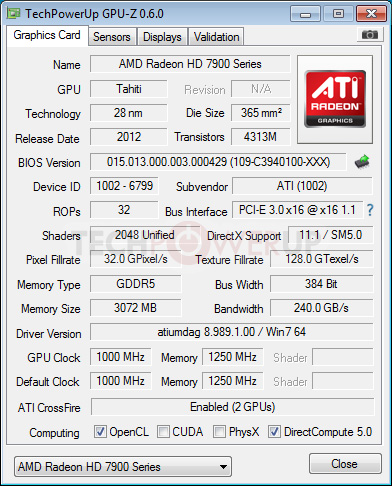 amd radeon hd 7990 gpu-z screenshot