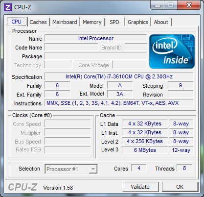 intel core i7 3610qm ivy bridge cpu