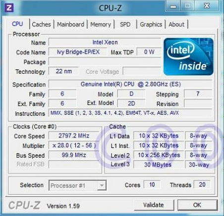 ivy bridge-ep cpu-z