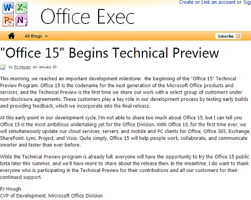 microsoft office 15 technical preview blog post