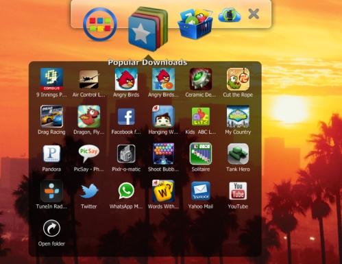bluestacks menu bar
