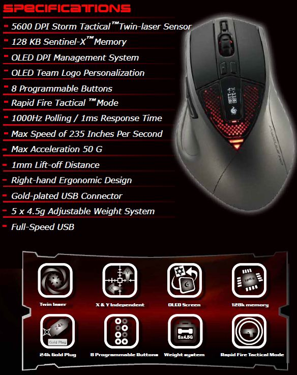 sentinel_zero_g__specifications