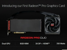 Radeon PRO Duo $1,500 Graphics card is out