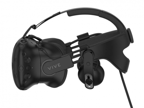 HTC Vive integrated headphone strap is coming soon enough