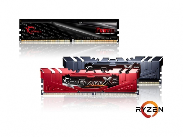 G.Skill unveils its AMD Ryzen-ready DDR4 memory