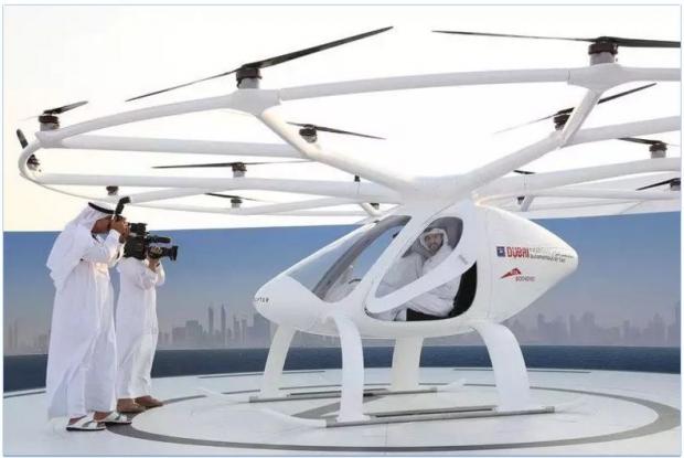 두바이 비행 택시 테스트