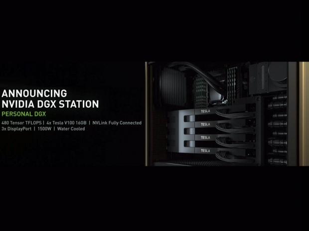 Nvidia announces DGX Station with four Volta V100s