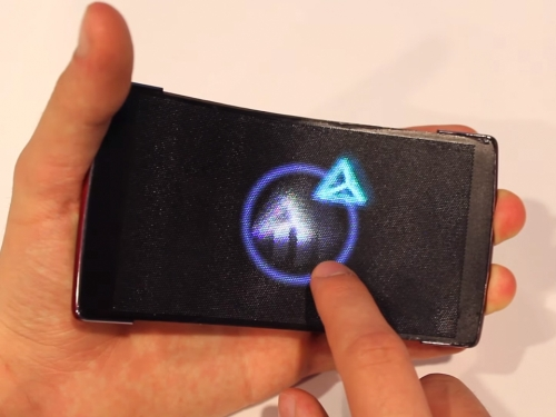 Flexible holographic smartphone uses light-field lens array