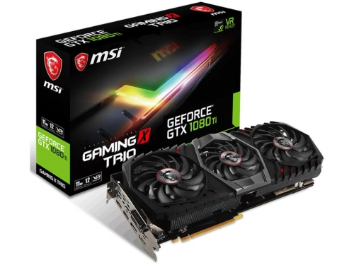 MSI shows off GTX 1080 Ti Gaming Trio graphics card series
