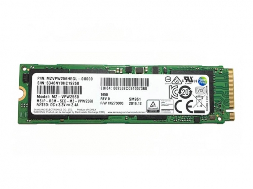 Samsung's third-generation SM961 256GB NVMe SSD reviewed