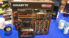 Gigabyte pushes custom Z170X SOC Force motherboard on liquid nitrogen at CES 2016