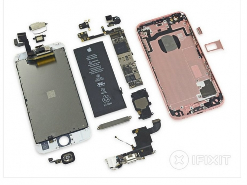 Pink iPhone 6S 16GB tear down