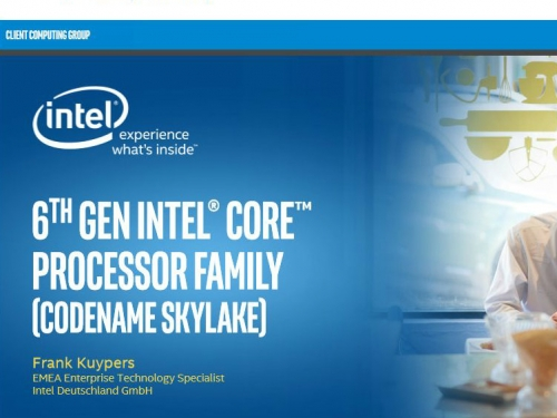 Intel Skylake launched at IFA 2015