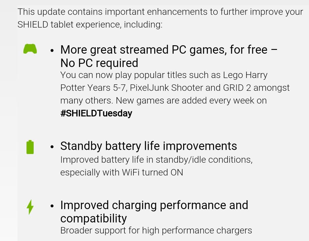 Nvidia Shield Tablet update improves battery