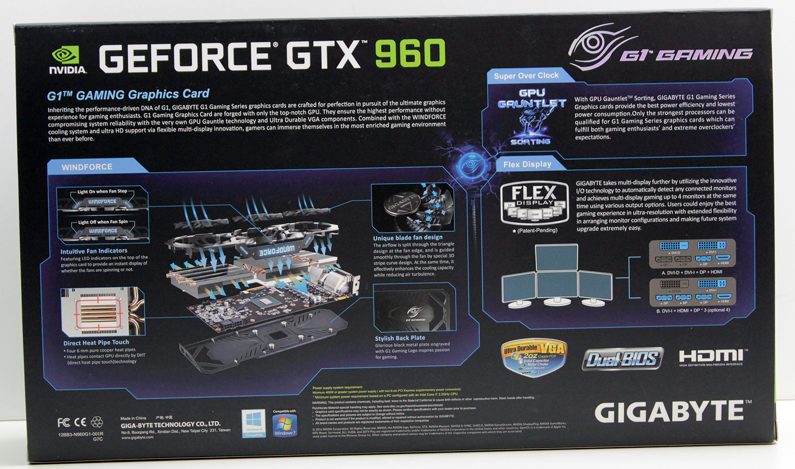 3 Gigabyte GTX 960 G1 Gaming box