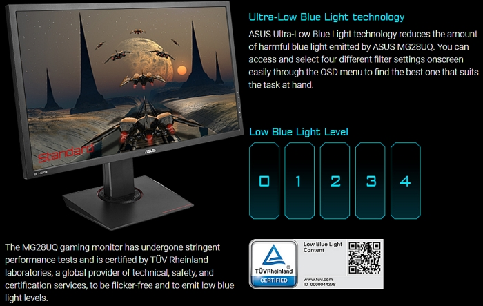 asus ultra low blue light technology