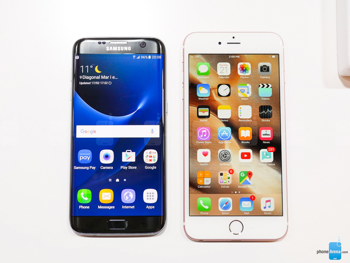 iphone 6 vs galaxy s7