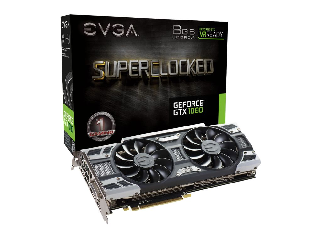 EVGA unveils its full Geforce GTX 1080 lineup