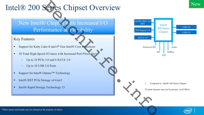 benchlife intel 200 series chipset overview