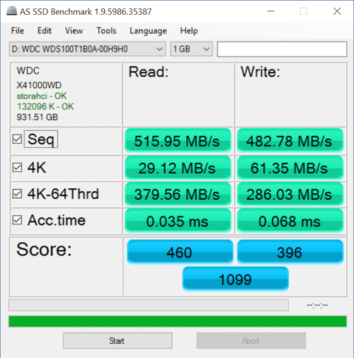 wd blue 1tb as ssd benchmark