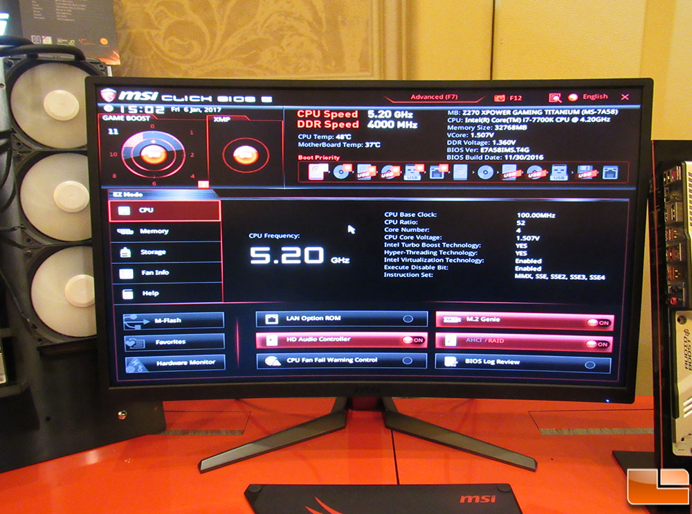 MSI pushes Core i7-7700K to 5 2GHz automatically