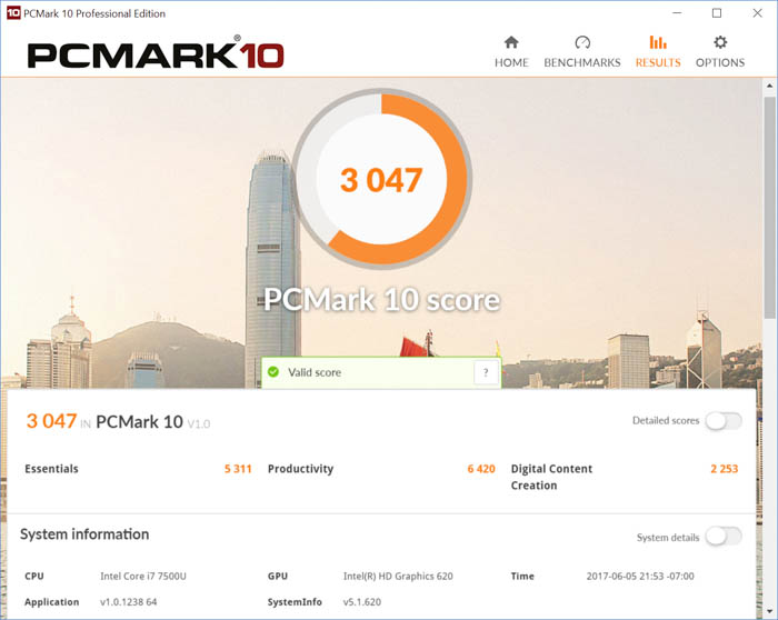 pcmark 10 standard score hp spectre x360 kaby lake notebook