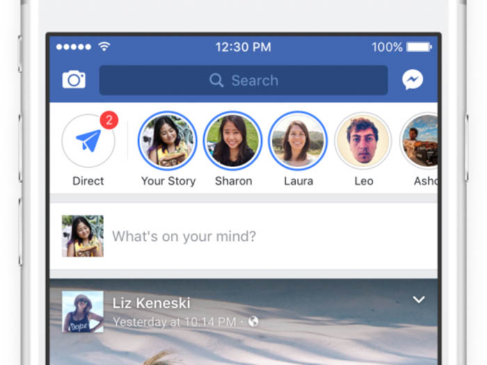 facebook stories feature