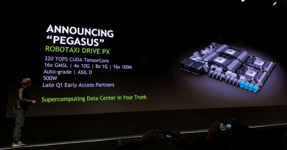 Nvidia Pegasus to sample in Q3 2018