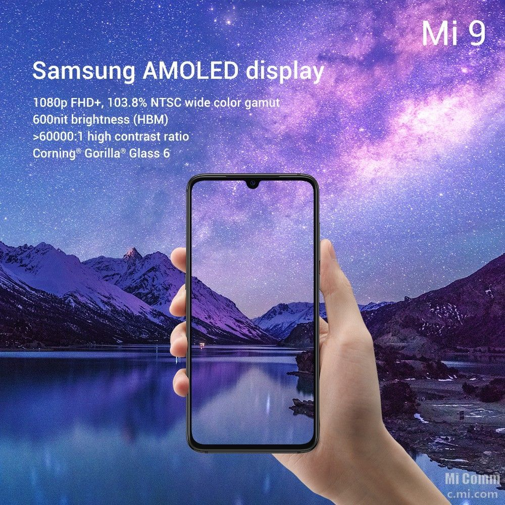 Xiaomi Mi 9 Details Officially Unveiled