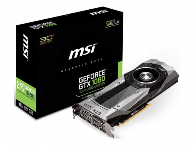 MSI comes up with five GTX 1080 graphics cards