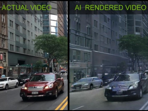 Nvidia Uses AI to render virtual worlds in real time