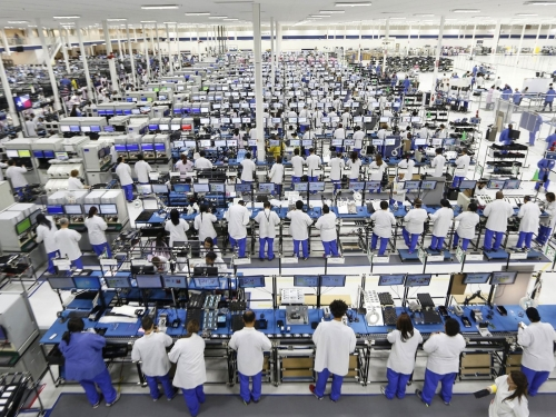 Foxconn revenue drops