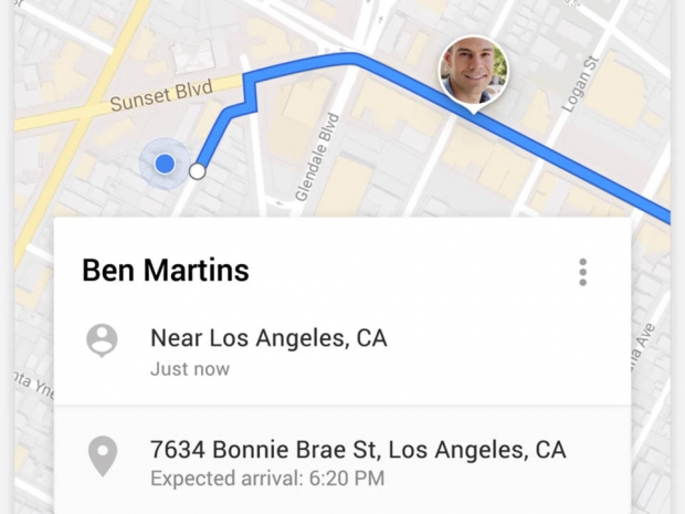 Google announces real-time location sharing on Google Maps
