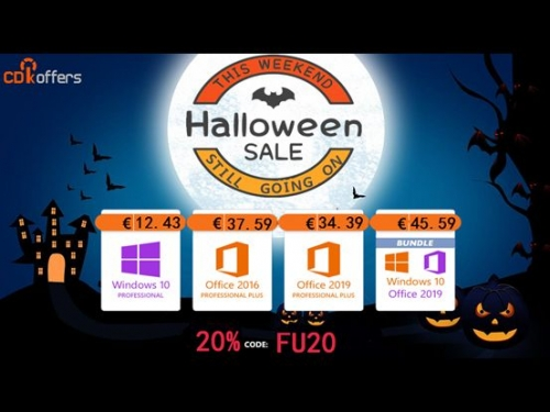 Halloween Sale : Get Windows 10 From Only €12, Office 2019 From €34, And More!