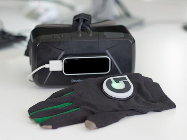 GloveOne haptic touch VR gloves displayed at E3 2016