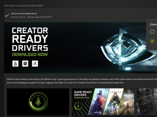 Nvidia produces first Creator Ready graphics driver