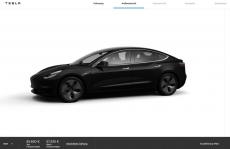 Tesla 3 in Europe starts at €59,280