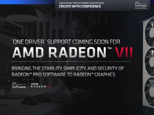 AMD adds Radeon Pro driver support to Radeon VII