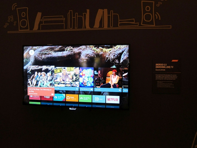 MediaTek shows world's first Android TV 6 0