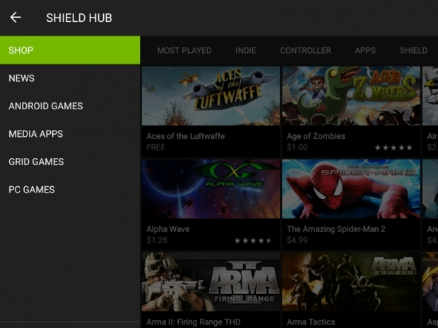 Nvidia updates Shield games library