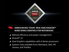 AMD also announces new Radeon M300 series for notebooks