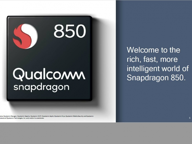 Samsung is the first Snapdragon 850 OEM