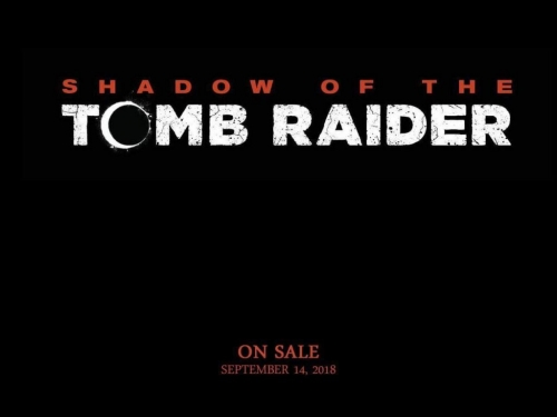 Shadow of the Tomb Raider coming in September