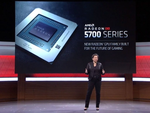 AMD displays its Navi-based RX 5700 graphics card series