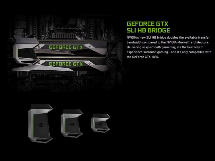 The new SLI HB bridge looks the part